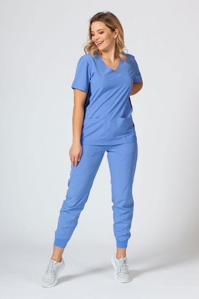 bluzy-medyczne-damskie Bluza damska Maevn Matrix Impulse Asymetric klasyczny błękit