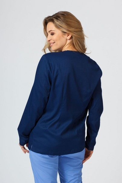 bluzy-medyczne-damskie Bluza damska rozpinana Maevn Matrix ciemny granat