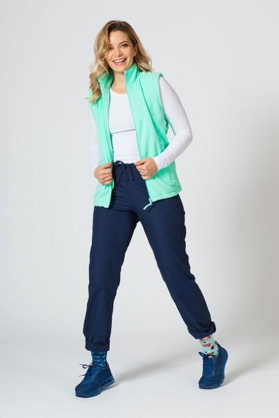 bluzy-polarowe-damskie Damska kamizelka polarowa Malfini miętowa
