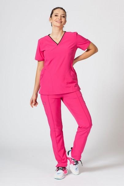 bluzy-medyczne-damskie Bluza damska Maevn Matrix Impulse różowa