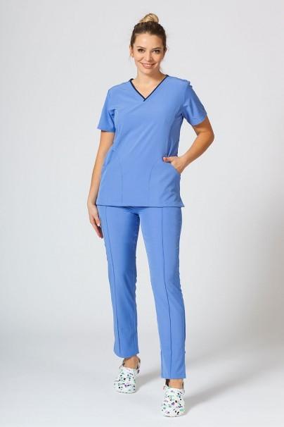 bluzy-medyczne-damskie Bluza damska Maevn Matrix Impulse klasyczny błękit