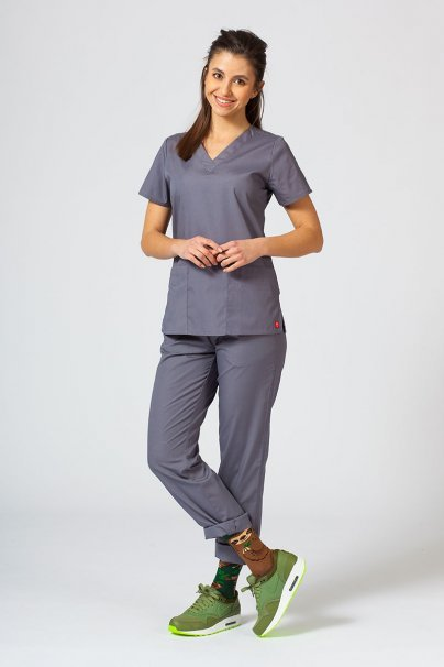 bluzy-medyczne-damskie Bluza damska Maevn Red Panda szara