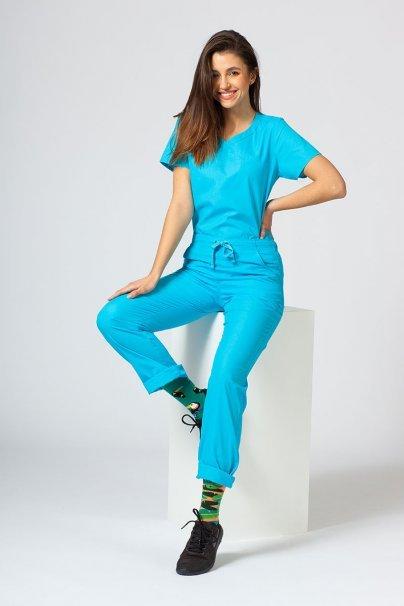 spodnie-medyczne-damskie Spodnie damskie Maevn Red Panda turkusowe