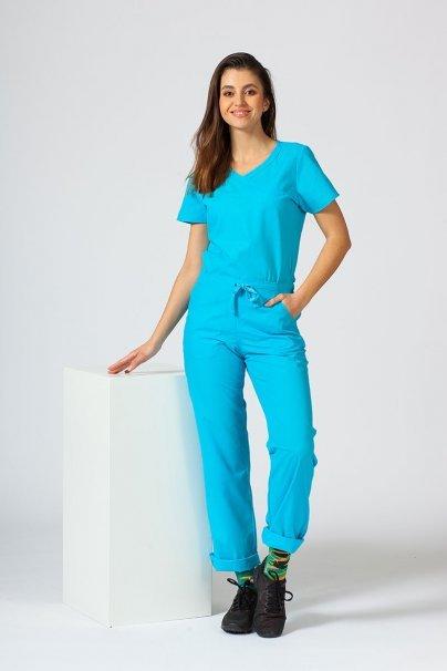 bluzy-medyczne-damskie Bluza damska Maevn Red Panda Asymetric turkusowa