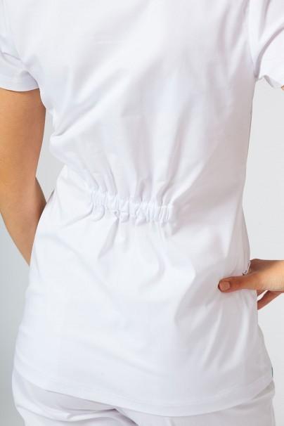 bluzy-medyczne-damskie Bluza medyczna damska Sunrise Uniforms Fit (elastic) biała
