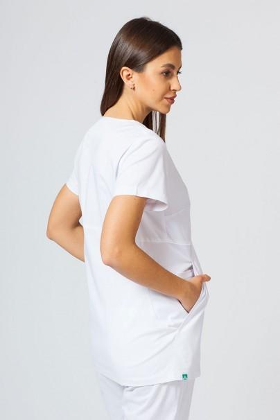 bluzy-medyczne-damskie Bluza medyczna damska Sunrise Uniforms Kangaroo (elastic) biała