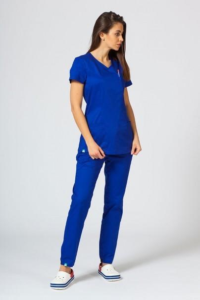 bluzy-medyczne-damskie Bluza medyczna damska Sunrise Uniforms Fit (elastic) granatowa