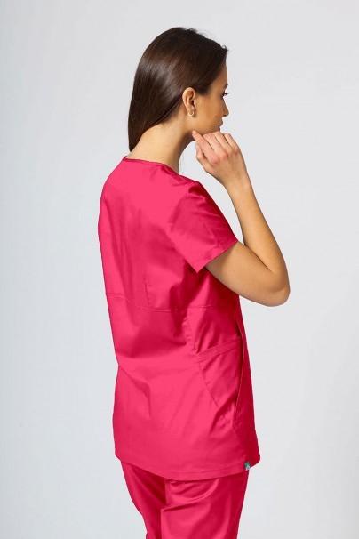 bluzy-medyczne-damskie Bluza medyczna damska Sunrise Uniforms Kangaroo (elastic) malinowa