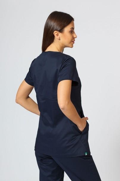 bluzy-medyczne-damskie Bluza medyczna damska Sunrise Uniforms Kangaroo (elastic) ciemny granat