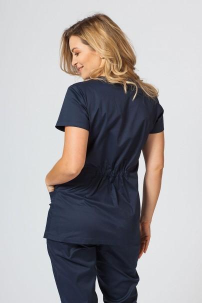bluzy-medyczne-damskie Bluza medyczna damska Sunrise Uniforms Fit (elastic) ciemny granat