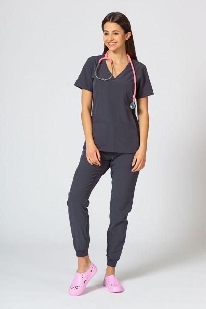 spodnie-medyczne-damskie Spodnie damskie Maevn Matrix Impulse Jogger szare