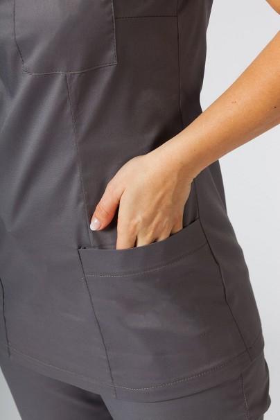 bluzy-medyczne-damskie Bluza medyczna damska Sunrise Uniforms Fit (elastic) szara