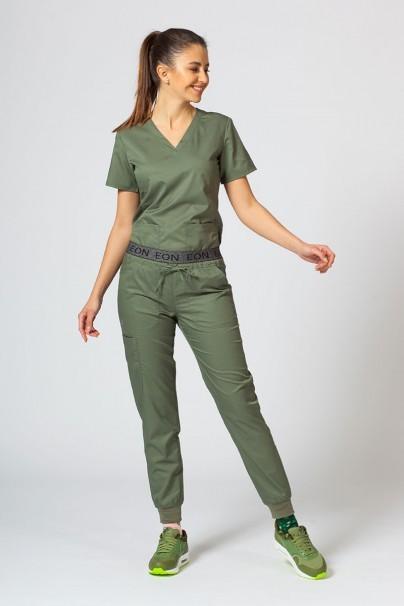 spodnie-medyczne-damskie Spodnie damskie Maevn EON Sporty & Comfy jogger oliwkowe