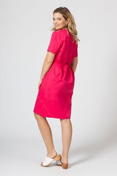 sukienki Sukienka medyczna damska prosta Sunrise Uniforms malinowa