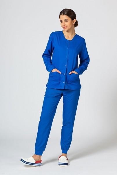 bluzy-medyczne-damskie Bluza damska rozpinana Maevn Matrix królewski granat