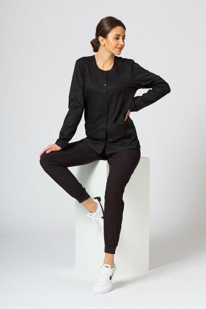 bluzy-medyczne-damskie Bluza damska rozpinana Maevn Matrix czarna