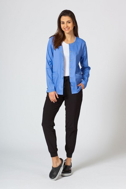 bluzy-medyczne-damskie Bluza damska rozpinana Maevn Matrix klasyczny błękit
