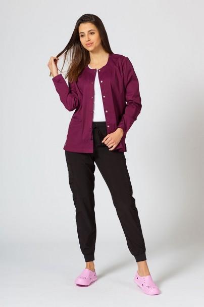 bluzy-medyczne-damskie Bluza damska rozpinana Maevn Matrix wiśniowa