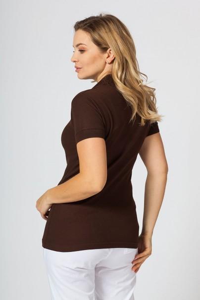 polo-damskie Koszulka damska Polo kawowa