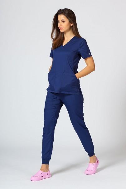 spodnie-medyczne-damskie Spodnie damskie Maevn EON Sporty & Comfy jogger ciemny granat