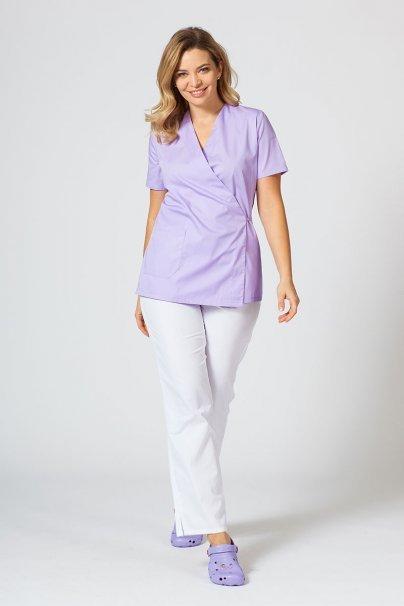bluzy-medyczne-damskie Fartuszek/bluza damska wiązana Sunrise Uniforms lawenda