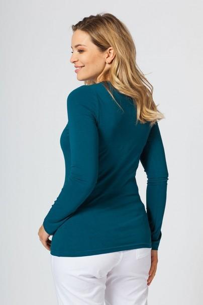 koszulki-medyczne-damskie Koszulka damska z długim rękawem karaibski błękit