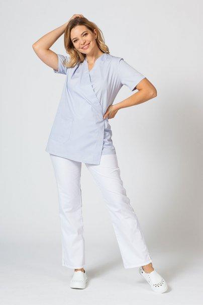 bluzy-medyczne-damskie Fartuszek/bluza damska wiązana Sunrise Uniforms popielata