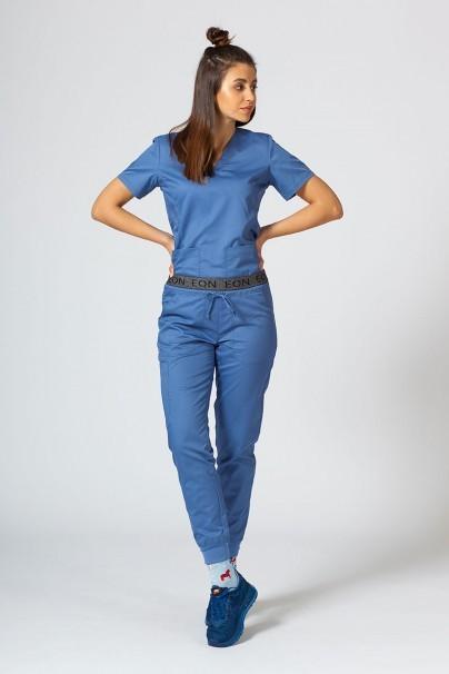 spodnie-medyczne-damskie Spodnie damskie Maevn EON Sporty & Comfy jogger niebieskie