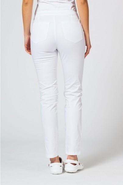 spodnie-medyczne-damskie Spodnie medyczne damskie Sunrise Uniforms Slim (elastic) białe