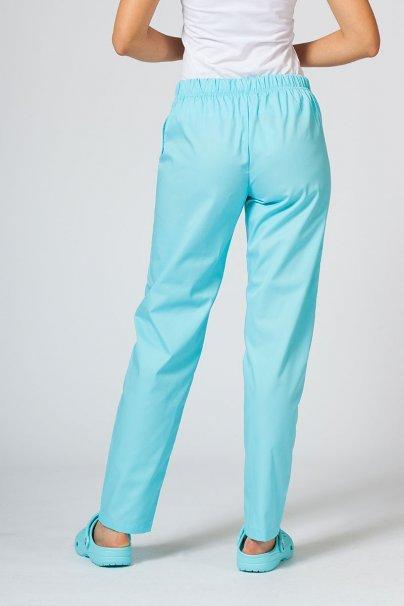 spodnie-medyczne-damskie Spodnie medyczne uniwersalne Sunrise Uniforms aqua