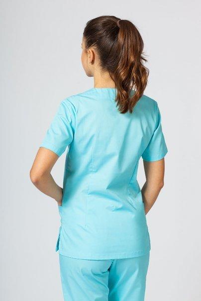 bluzy-medyczne-damskie Bluza medyczna damska Sunrise Uniforms aqua taliowana