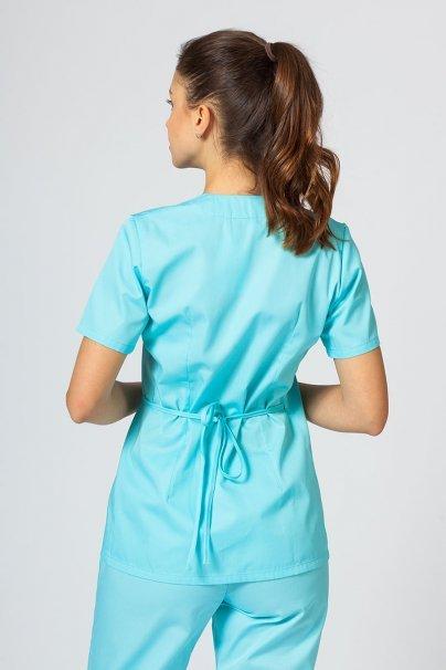 bluzy-medyczne-damskie Fartuszek/bluza damska wiązana Sunrise Uniforms aqua