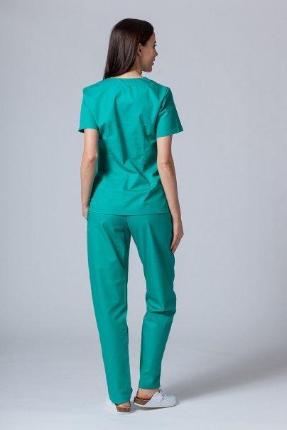 komplety-medyczne-damskie Komplet medyczny Sunrise Uniforms zielony (z bluzą taliowaną)