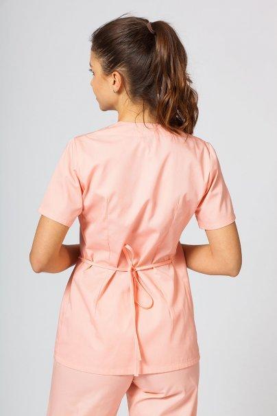bluzy-medyczne-damskie Fartuszek/bluza damska wiązana Sunrise Uniforms łososiowa