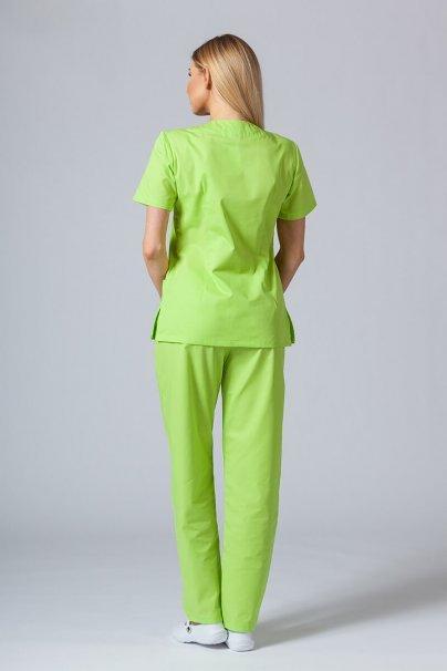 komplety-medyczne-damskie Komplet medyczny Sunrise Uniforms limonkowy  (z bluzą taliowaną)