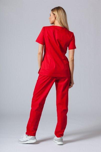 komplety-medyczne-damskie Komplet medyczny Sunrise Uniforms czerwony (z bluzą taliowaną)
