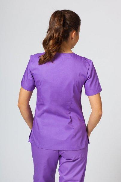 bluzy-medyczne-damskie Bluza medyczna damska Sunrise Uniforms fioletowa taliowana