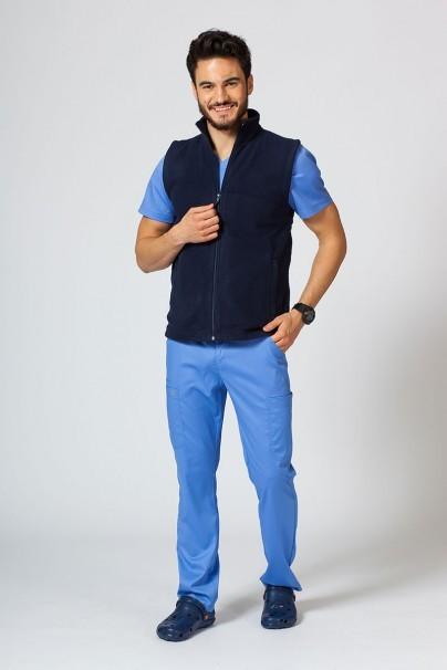 bluzy-polarowe-meskie Męska kamizelka polarowa Malfini granatowa