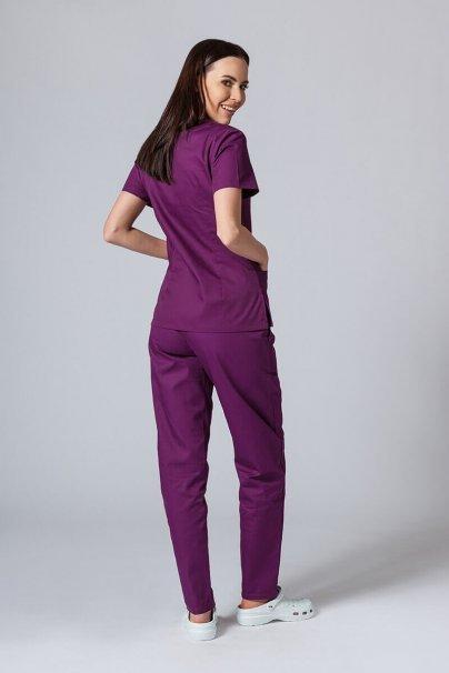 komplety-medyczne-damskie Komplet medyczny Sunrise Uniforms ciemna oberżyna (z bluzą taliowaną)