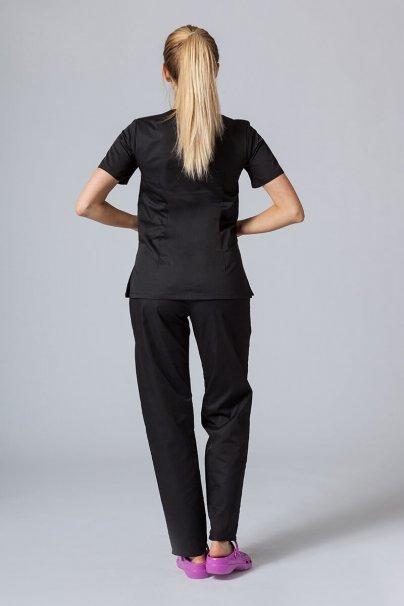 komplety-medyczne-damskie Komplet medyczny Sunrise Uniforms czarny (z bluzą taliowaną)