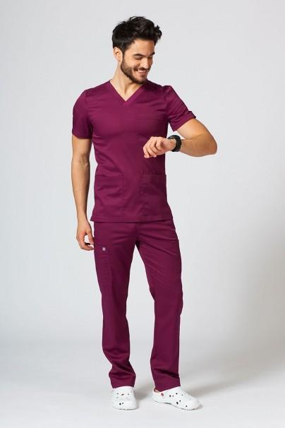 bluzy-medyczne-meskie Bluza męska Maevn Matrix Men wiśniowa