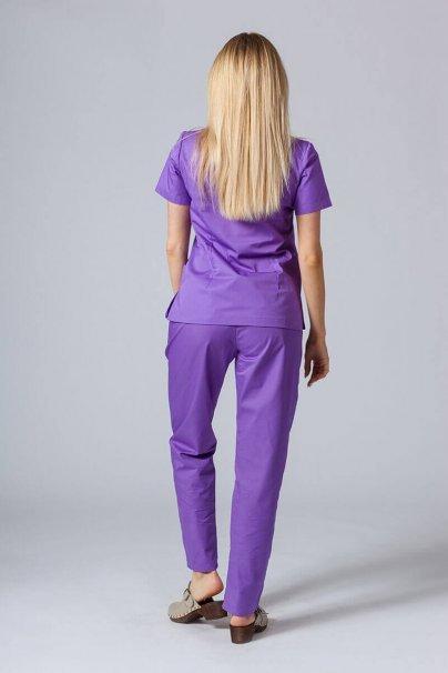 komplety-medyczne-damskie Komplet medyczny Sunrise Uniforms fioletowy (z bluzą taliowaną)