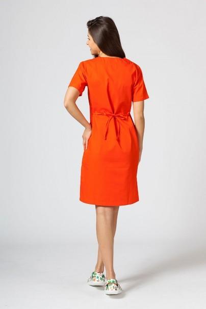 sukienki Sukienka medyczna damska prosta Sunrise Uniforms pomarańczowa