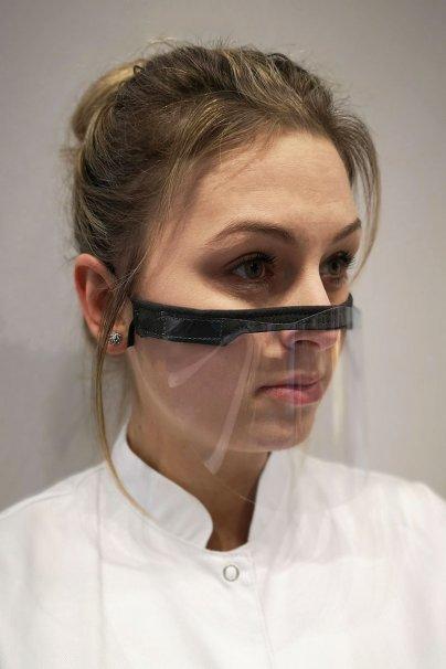 przylbice Mini przyłbica ochronna z przeźroczystego tworzywa PET 0,2 mm