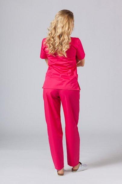 komplety-medyczne-damskie Komplet medyczny Sunrise Uniforms malinowy (z bluzą taliowaną)