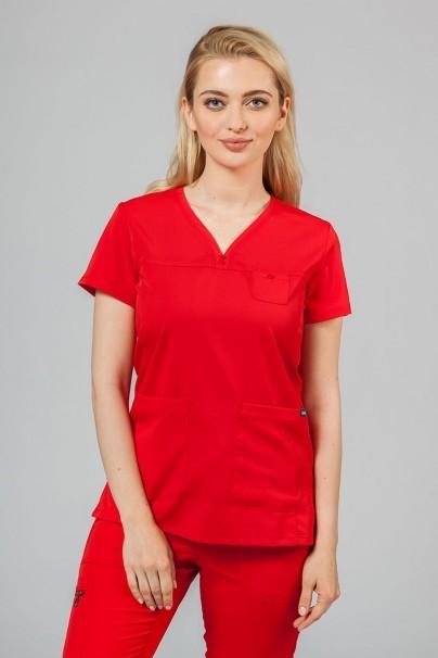komplety-medyczne-damskie Komplet medyczny Adar Uniforms Ultimate czerwony (z bluzą Sweetheart - elastic)