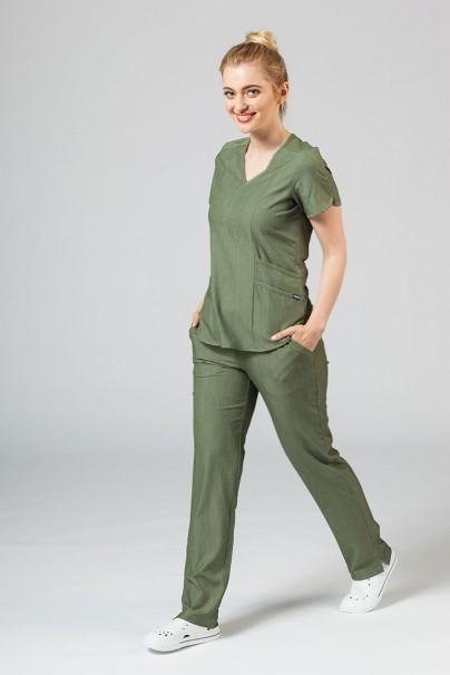 bluzy-medyczne-damskie Bluza damska Adar Uniforms Modern oliwkowa