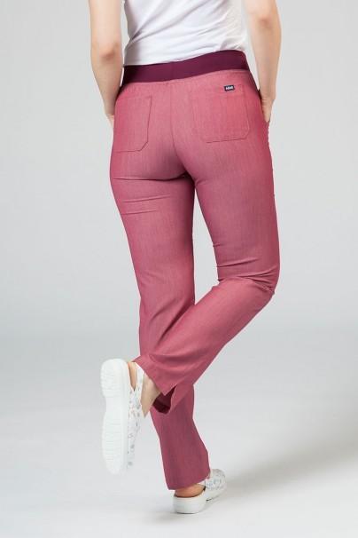 spodnie-medyczne-damskie Spodnie damskie Adar Uniforms Leg Yoga wrzosowe