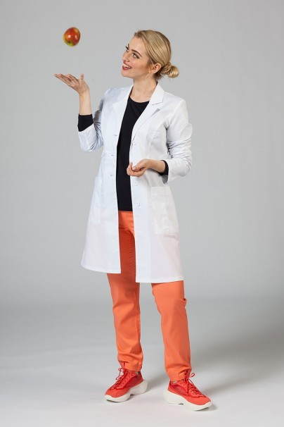 fartuchy-medyczne-damskie Fartuch medyczny Adar Uniforms Tab-Waist biały (elastic)