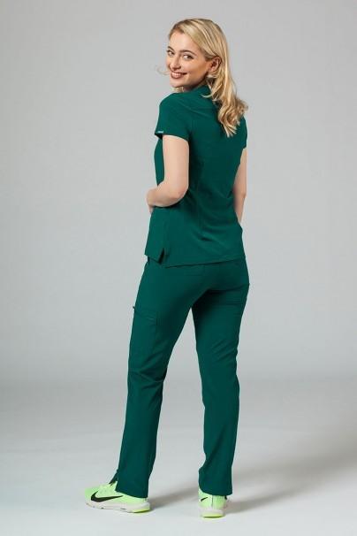 bluzy-medyczne-damskie Bluza damska Adar Uniforms Notched butelkowa zieleń